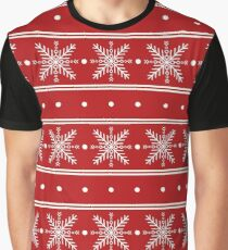 Snowflake pattern Graphic T-Shirt