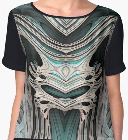 Cosmic creature #Fractal B Women's Chiffon Top