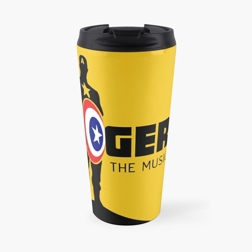 Rogers: The Musical (Black) Full Logo Travel Mug
