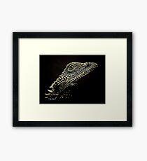 Bearded Dragon Reptile Art Framed Print