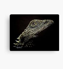 Bearded Dragon Reptile Art Canvas Print