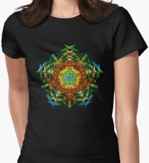 Energetic Geometry-   Multidimensional Power Star Energy Women's Fitted T-Shirt