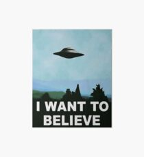 I want to believe, x-files poster Art Board
