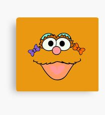 Sesame face Canvas Print