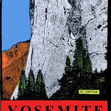 Calcomanía de viaje vintage de El Capitan Yosemite National Park California de hilda74