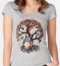 Totoro's Tree Women's Fitted Scoop T-Shirt