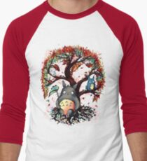 Totoro's Tree Men's Baseball ¾ T-Shirt