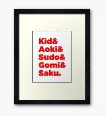 Japanese MMA Legends Framed Print
