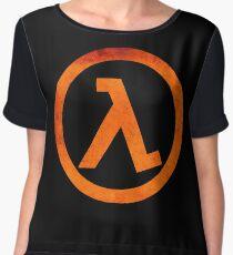 °GEEK° Half Life Rust Logo Chiffon Top
