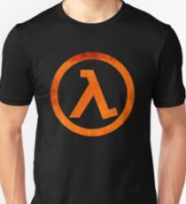 ° ° GEEK Half Life Rust Logo Slim Fit T-Shirt