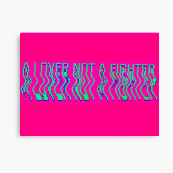 A lover not a fighter- alien Canvas Print