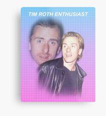 Lienzo metálico Tim Roth entusiasta