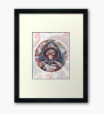 Spider Gwen en Paisley  Framed Print