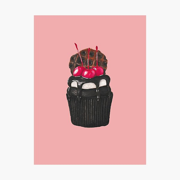 Chocolate Cupcake Photographic Print