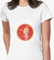 World War 2 Pilot Airman Fighter Plane Circle Retro T-Shirt