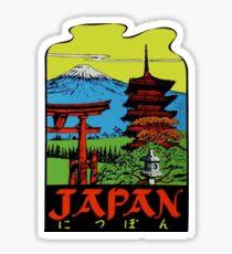 Pegatina Etiqueta de viaje vintage de Japón