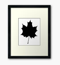 Maple leaf, Maple, Canada, Canadian, Syrup, Silhouette, Black Framed Print