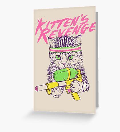 Kitten's Revenge Greeting Card