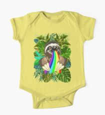 Sloth Spitting Rainbow Colors One Piece - Short Sleeve
