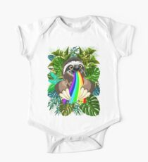 Sloth Spitting Rainbow Colors One Piece - Short Sleeve