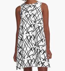 Black lines A-Line Dress