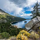 Emerald Bay with Rock by James Watkins