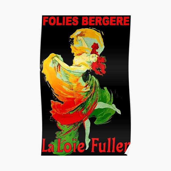 LOIE FULLER; Vintage Follies Bergere Advertising Print. Poster