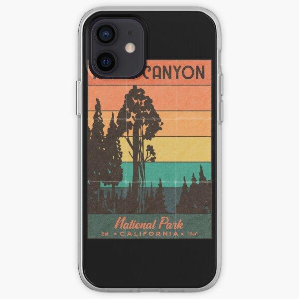 Kings Canyon National Park Retro Sunset iPhone Soft Case
