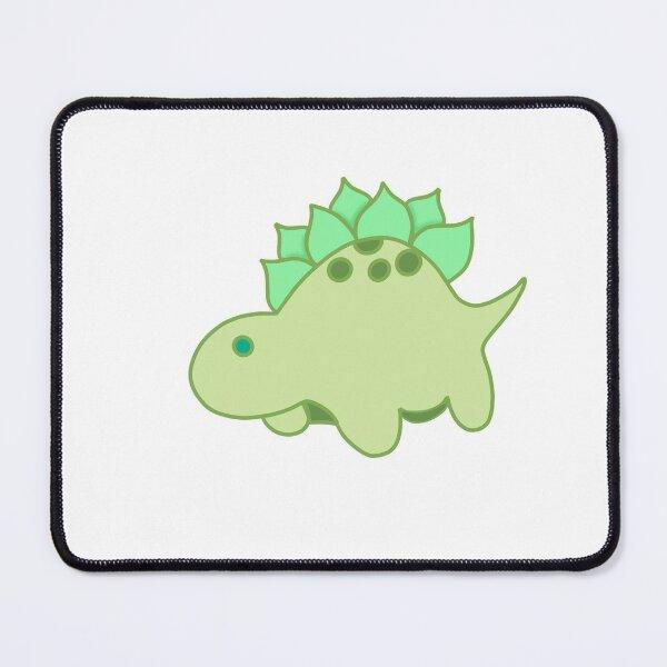 Cute tiny green stegosaurus  Mouse Pad