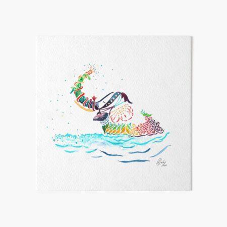 Rainbow Elephant Prints Art Board Print