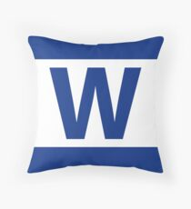 Chicago Cubs Majestic W Flag Throw Pillow