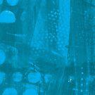 Blue Jeans Dotty Grunge by Liz Plummer