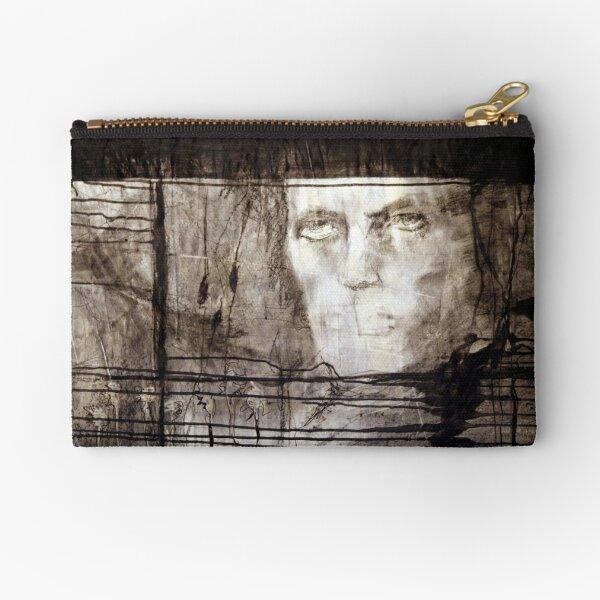 portrait of david robert jones Zipper Pouch