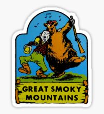 Great Smoky Mountains National Park Vintage Travel Decal Sticker