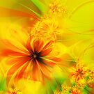 Copper Fractal Flower by Jo Newman