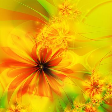 Copper Fractal Flower by quartzmonzonite