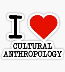 I Love Cultural Anthropology Sticker