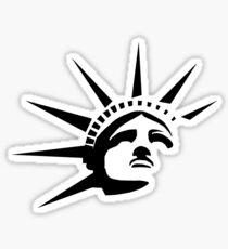 Lady Liberty - Black Sticker