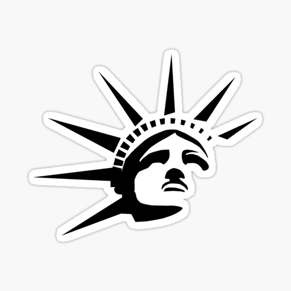 Lady Liberty - Black Sticker