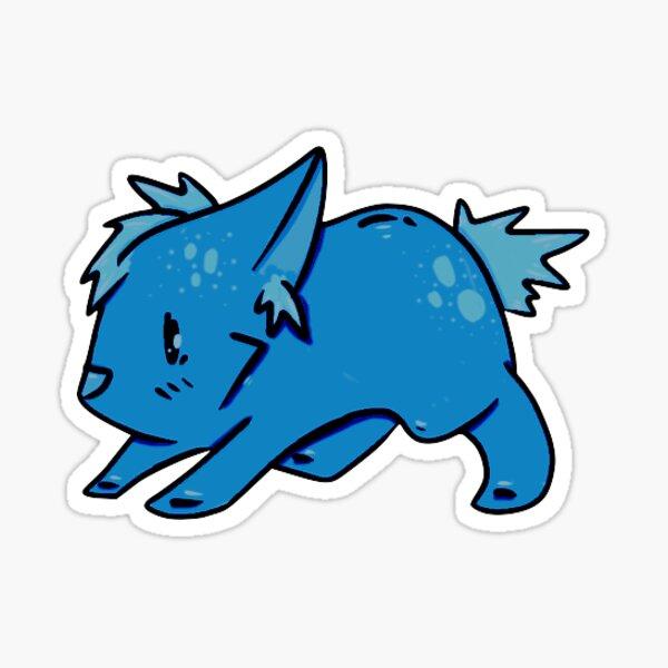 Furry Friends Deep Blue Sticker