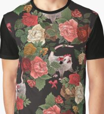 Opossum floral pattern Graphic T-Shirt
