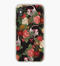 Opossum floral pattern iPhone Case