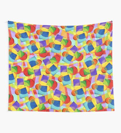 Candy Rainbow Geometric Wall Tapestry