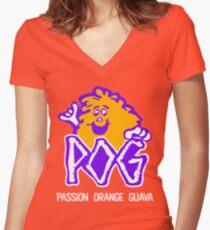 POG Women's Fitted V-Neck T-Shirt