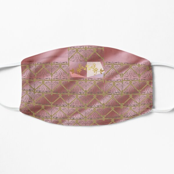 Purple and Pink Crest Crown Print Flat Mask