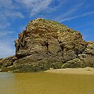 Chapel Rock, Perranporth Beach by Rod Johnson