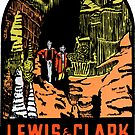 Lewis & Clark Cavern State Park Vintage Travel Decal by hilda74