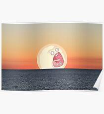 Screaming Sunset Poster