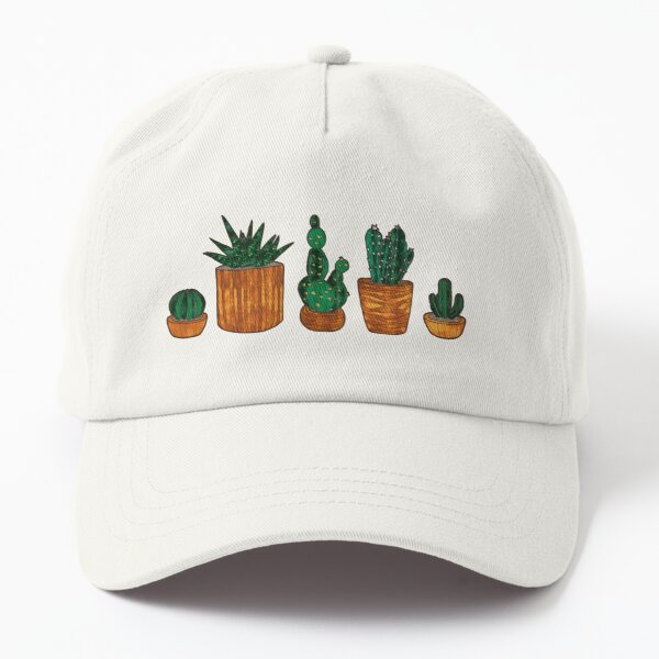 Faux Stained Glass Cacti Dad Hat