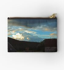 Storm clouds gathering over Speyside Studio Pouch